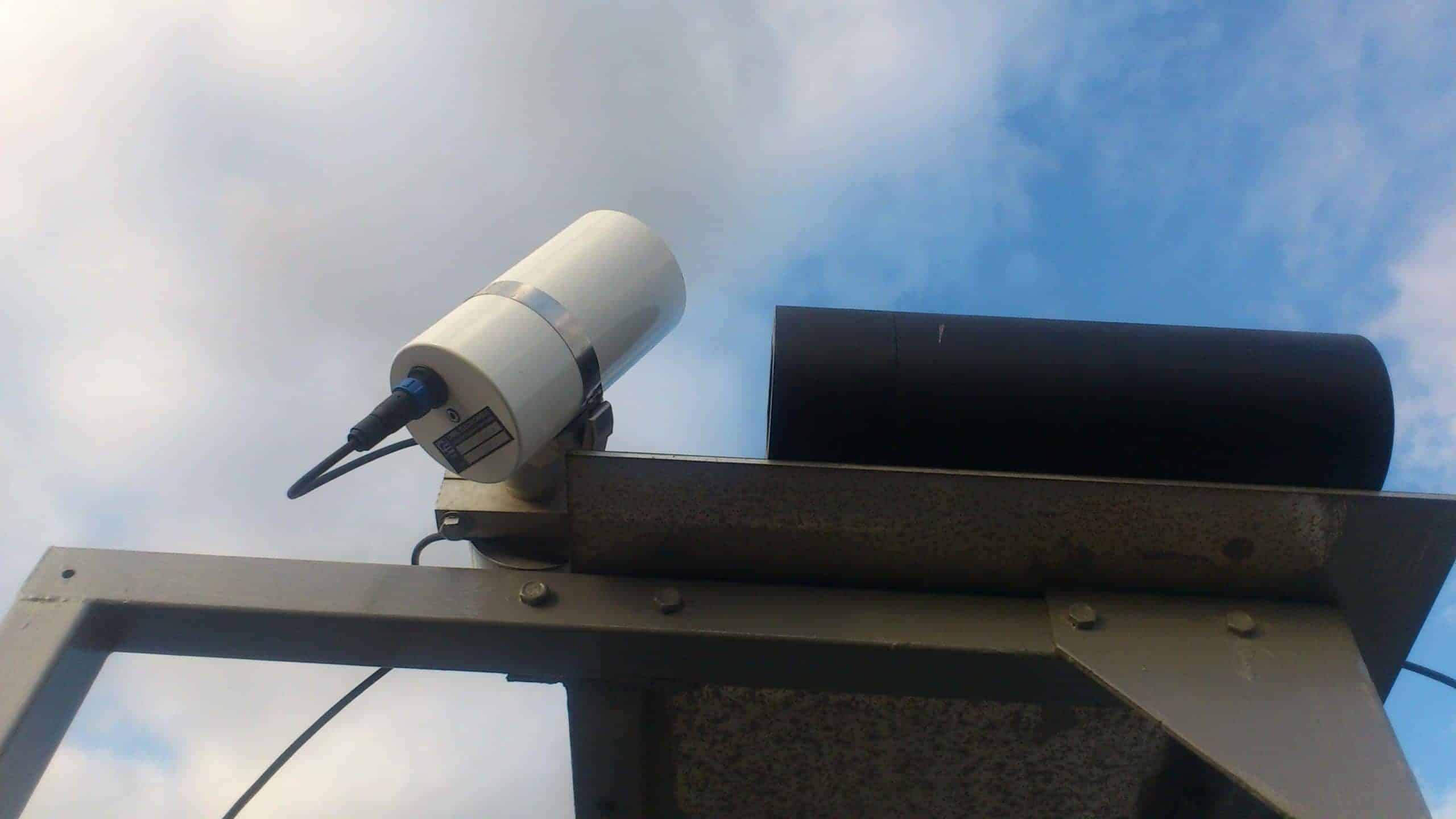 CE312 Radiomètre installation objectif vers le ciel