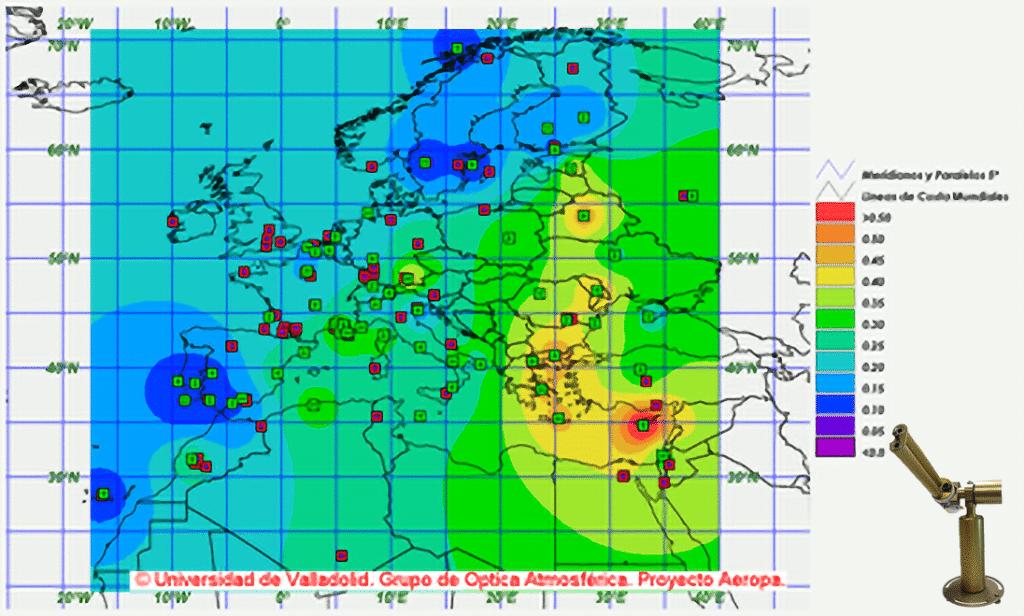 RIMA NASA-AERONET network : Long-term monitoring of aerosol properties